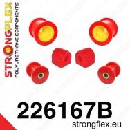 Strongflex sportovní silentbloky Škoda Superb II, sada pro přední nápravu