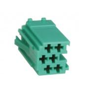 mini ISO konektor samostatný zelený - samec