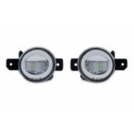 JOM mlhovky čiré s LED Renault Megane 2 od 2002