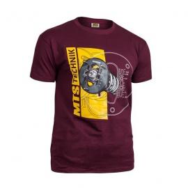 MTS Technik Camber tričko - vínová