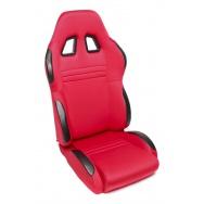 TA Technix sportovní sedačka sklopná - červená Alcantara, levá