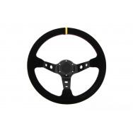 Sportovní semišový volant - černý, průměr 35cm