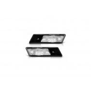Boční bílé blikače BMW 7 - E32 - černá podložka