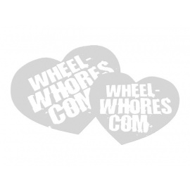 Wheel Whores samolepka - Frosted Hearts (2ks)