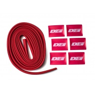 """DEi Design Engineering sada termo izolačního návleku """"Protect-A-Wire"""" délka 2,1 m + 6x koncovka s logem, červená barva"""