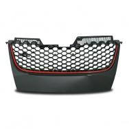 JOM přední maska VW Golf V GTI look - červený lem, bez otvoru