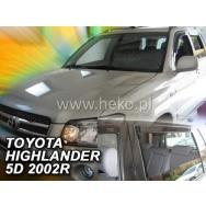 HEKO ofuky oken Toyota  Highlander USA 5dv (2001-2007) přední + ztadní