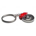 Přívěšek na klíče - vrtaný brzdový kotouč s třmenem
