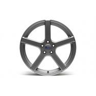 TA Technix XF1 ALU lité kolo konkávní 8,5x19 - šedá Gunmetal, 5x120, 72,6 ET35