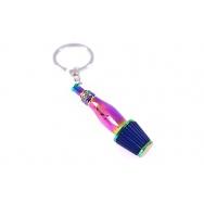 Přívěšek na klíče - sání s filrem, Neo chrom / modrá