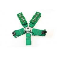 Pětibodové pásy s logem TAKATA - zelené