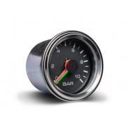 Autogauge přídavný ukazatel tlaku vzduchu dvouručičkový černý
