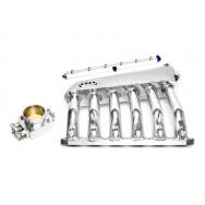 TA Technix sací svody BMW 5 E34 / E39, s motory M50+M52 pouze se single VANOS vč. klapky a palivové lišty - stříbrné