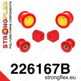 Strongflex sportovní silentbloky VW Scirocco III, sada pro přední nápravu
