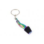 Přívěšek na klíče - sání s filrem, Neo chrom / černá