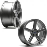 """Sada konkávních ALU kol TA Technix XF1 pro Volkswagen Group / Mercedes, 4ks 8,5""""x19"""" ET42, rozteč 5x112, střed 66,6/57,1 - šedá (GunMetal)"""