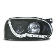 Přední světla VW Golf III - devil eyes, černá