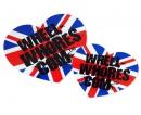 Wheel Whores samolepka - Union Jack Heart (2ks)