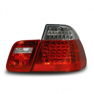 Zadní světla BMW 3 E46 sedan (do 8.01) - s LED, červené / chromové