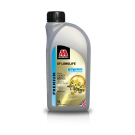 Plně syntetický olej Millers Oils Premium XF Longlife C2 5w30, 1L (Peugeot, Citroen, Renault, Fiat, Alfa Romeo, Chevrolet, Lancia, Lexus, Toyota)