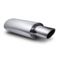 Sportovní nerezový výfuk (tlumič) univerzální - oválná zkosená koncovka 125 x 75mm
