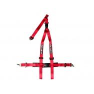 Raemco sportovní 3-bodový bezpečnostní pás - červený odpojitelný