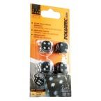 Foliatec čepičky ventilků - hrací kostky černé