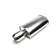 TA Technix sportovní nerezový tlumič výfuku - zkosená kulatá koncovka, průměr 110mm