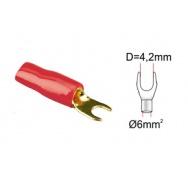 ACV kabelová vidlička 6qmm red