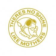 Mothers samolepka kulatá, 15 cm, zlatá - na světlý podklad