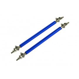 Hliníkové vzpěry spoilerů a difuzorů - modré, délka 150 mm