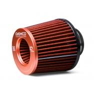 Raemco vzduchový filtr - univerzální, vstup 77mm, oranžový