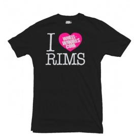 Wheel Whores tričko pánské - I Heart Rims, velikost XL