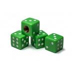 Čepičky ventilků - hrací kostky, zelené