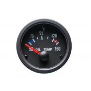 Autogauge palubní přístroj - teplota oleje s černým podkladem