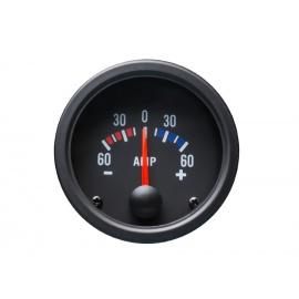 Autogauge palubní přístroj - ampermetr s černým podkladem