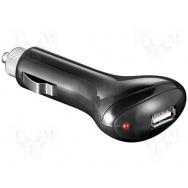 Automobilový napájecí zdroj 5V/1x1A USB černý