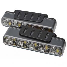 MYCARR špičková světla pro denní svícení s modulem, který zajistí automatické rozsvícení po startu motoru a zhasnutí při zapnutí potkávacích světel vozidla. Homologace dle EHK/OSN č. 48 pod číslem E11 - 00 0012.