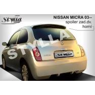 Stylla spoiler zadních dveří Nissan Micra (2003 - 2010)