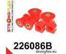 Strongflex sportovní silentbloky Audi A3 8L Quattro vč. S3, sada pro přední nápravu