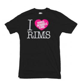 Wheel Whores tričko pánské - I Heart Rims, velikost L
