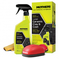 Mothers Ultimate Hybrid 1-step Ceramic Clay & Coat - sada pro jednokrokovou dekontaminaci a ošetření laku