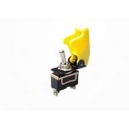 Vypínač 12V včetně krytky - žlutý