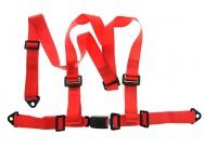 Tříbodové pásy GPX - červené