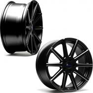 """Sada konkávních ALU kol TA Technix XF2 pro Volkswagen Group / Mercedes, 4ks 8,5""""x19"""" ET42, rozteč 5x112, střed 66,6/57,1 - černá"""