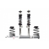 Kompletní výškově a tuhostně stavitelný podvozek H&R v nerezovém provedení pro VW Jetta V s průměrem př. tlumiče 55mm  r.v.08/05>  s pohonem předních kol