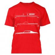 Mothers tričko s bílým potiskem - červené