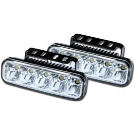 MYCARR špičková světla pro denní svícení s modulem, který zajistí automatické rozsvícení po startu motoru a zhasnutí při zapnutí potkávacích světel vozidla. Homologace dle EHK/OSN č. 48 pod číslem E11 - 00 0003.
