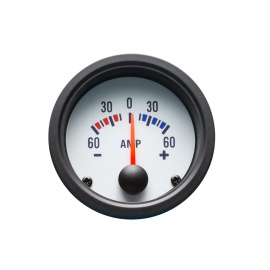 Autogauge palubní přístroj - ampermetr s bílým podkladem