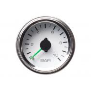 Autogauge přídavný ukazatel tlaku vzduchu dvouručkový bílý 52mm